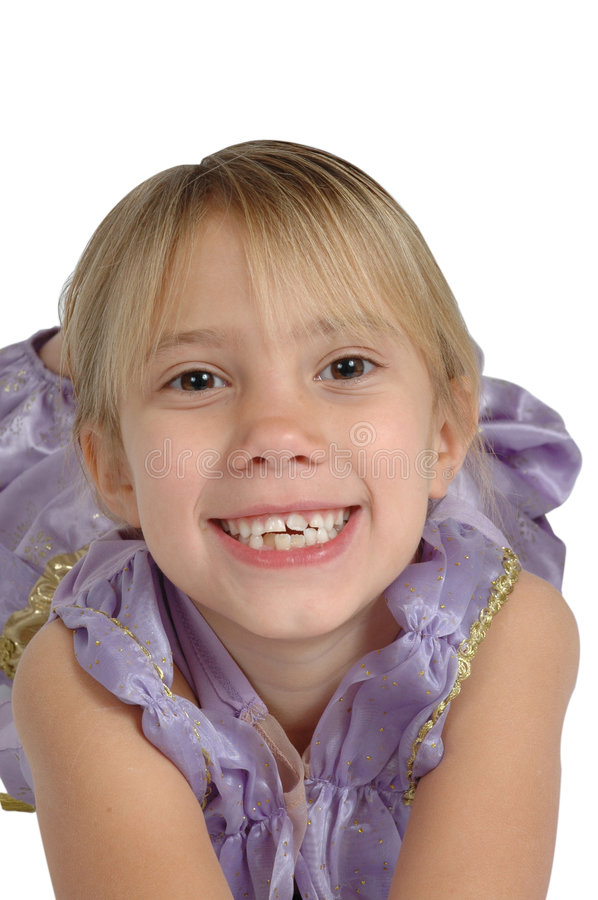 Smiling little girl. Little cute blonde smiles at the camera stock images