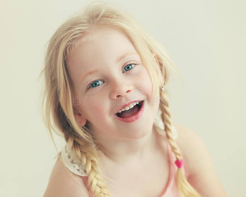 Smiling little girl royalty free stock images