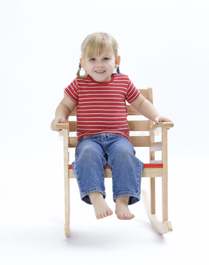 Download Smiling Little Girl On Floated Armchair Stock Image - Image of toddler, swinging: 11152581