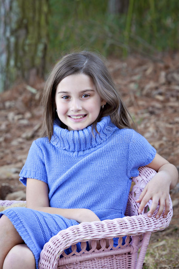 Download Smiling Little Girl Outdoors Stock Photo - Image: 18567676
