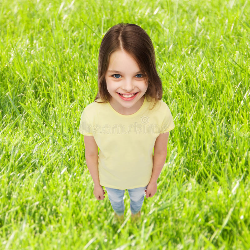 Preteen Girl Resting On Grass Stock Photo - Image of happy