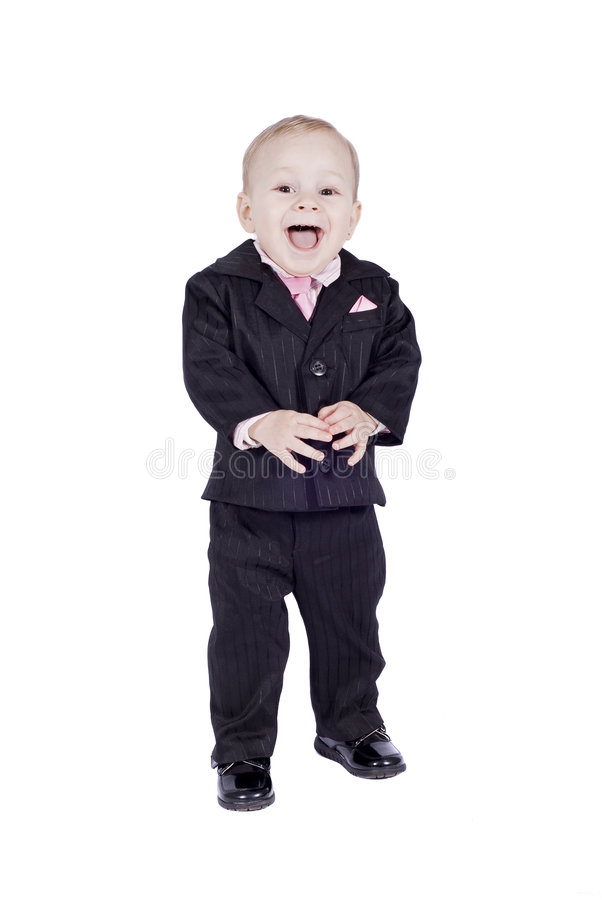 Free Smiling Little Man In Classic Suit Royalty Free Stock Image - 8739256