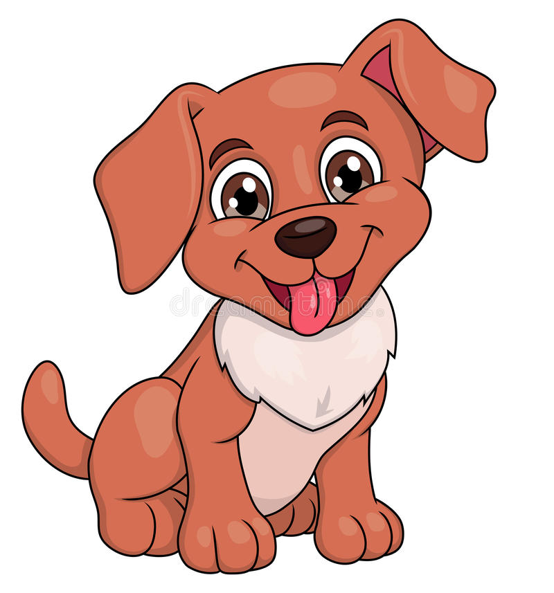Smiling little puppy 2 royalty free illustration