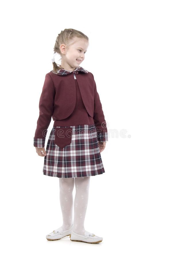 Smiling Little Schoolgirl royalty free stock image