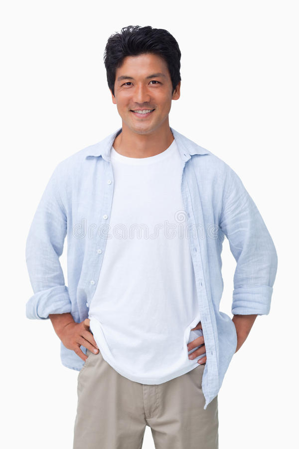 Download Smiling Male With Hands On His Hip Stock Photo - Image: 22862460