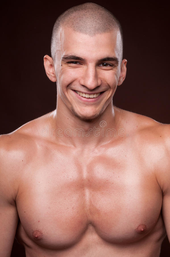 Smiling male model stock photos
