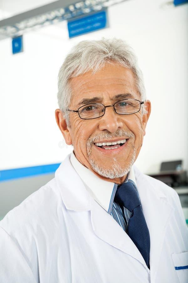 Smiling Male Technician stock image