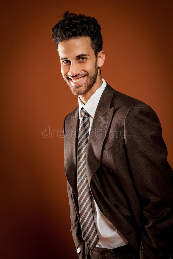 Smiling man stock photography