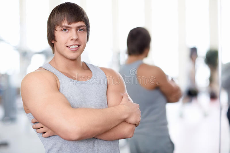 Download Smiling man stock photo. Image of sports, muscular, young - 29435530