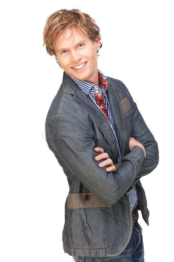 Download Smiling Man With Arms Crossed Stock Image - Image: 28463509