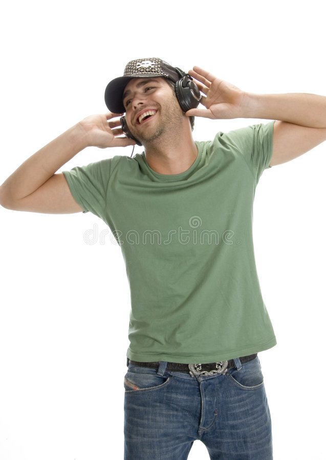 Free Smiling Man Enjoying Music Stock Photo - 6548650