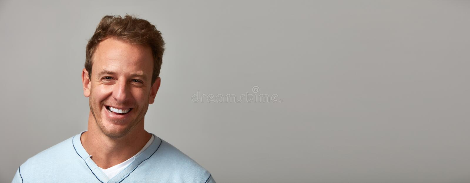 Download Smiling man. stock photo. Image of expressions, happy - 80982830