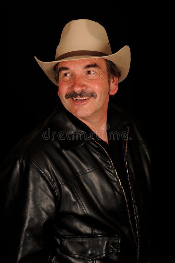 Smiling Man With Moustache Royalty Free Stock Images
