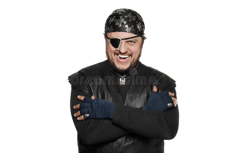 Smiling Man In A Pirate Costume Stock Images