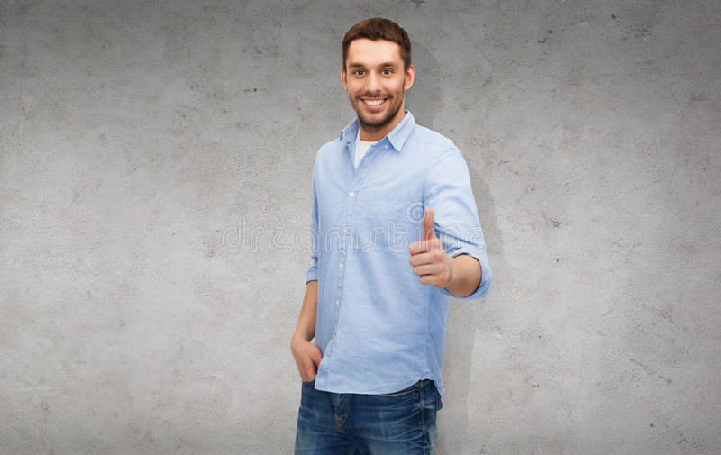 Download Smiling Man Showing Thumbs Up Stock Image - Image: 40042517