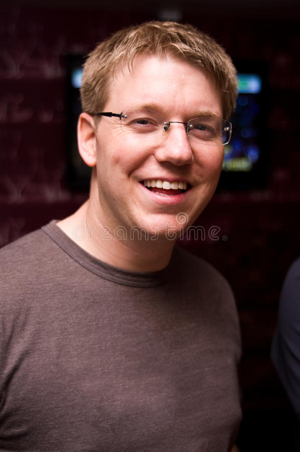 Smiling Man In Spectacles Stock Photography