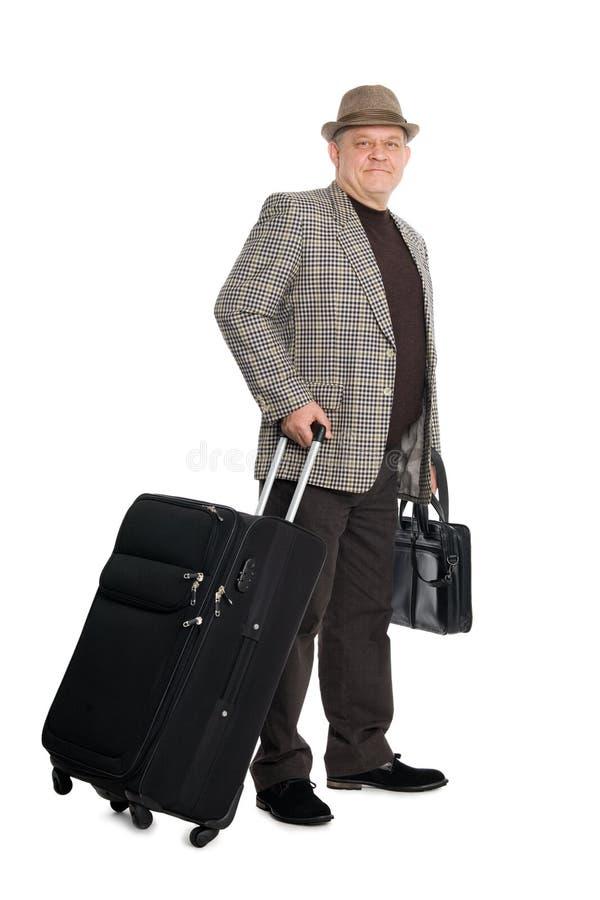 Smiling man traveler
