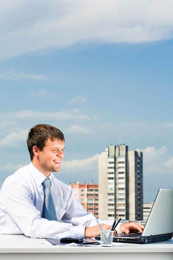 Download Smiling manager stock image. Image of collar, freedom - 6265639