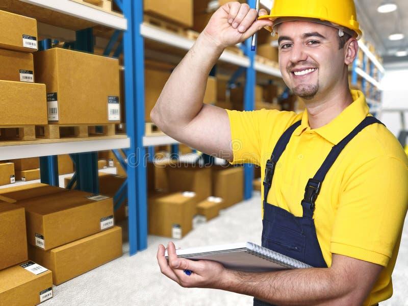 Smiling manual worker stock photos
