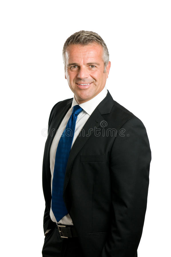 Smiling mature businessman royalty free stock photo