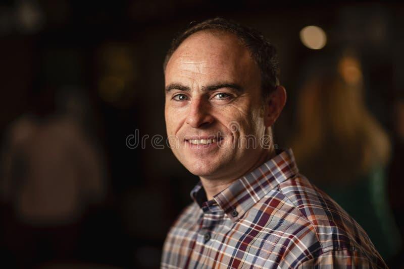 Smiling Mature Man stock images