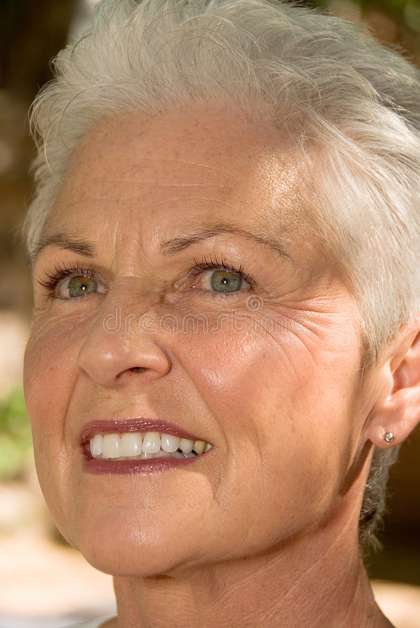 Download Smiling mature woman stock photo. Image of close, woman - 1442626