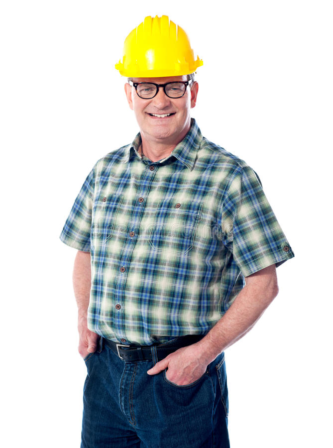 Download Smiling Matured Architect Posing Stock Photo - Image of adult, company: 24629066