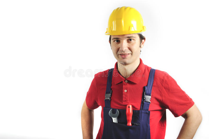 Download Smiling mechanic stock image. Image of overalls, mechanical - 18480853