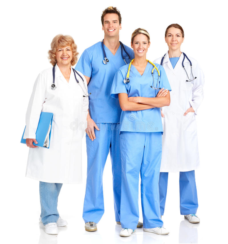 Smiling medical nurse royalty free stock images