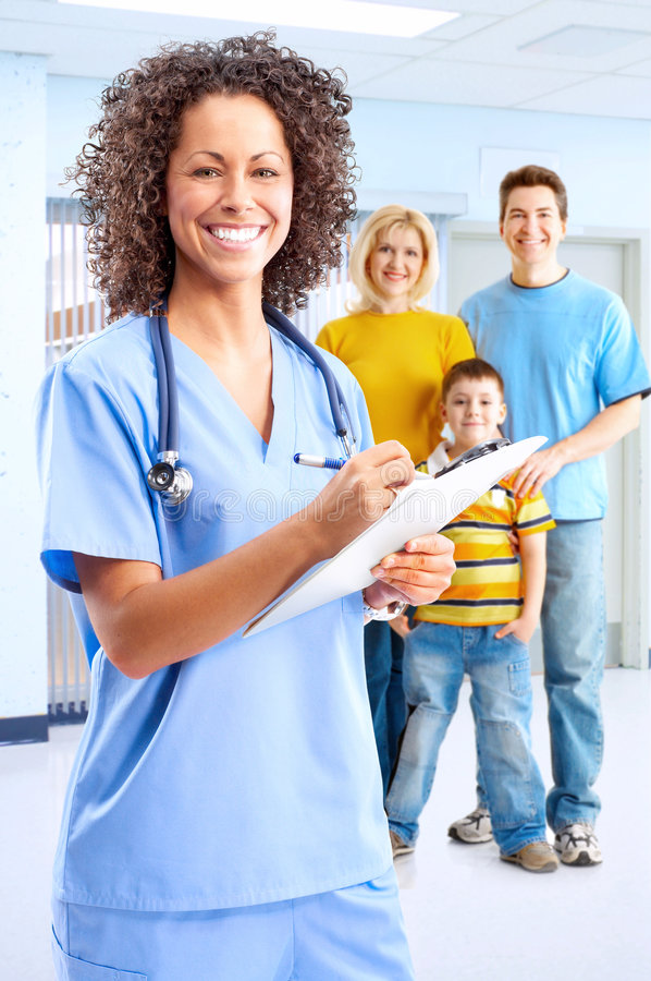 Download Smiling medical nurse stock image. Image of care, parents - 9279207