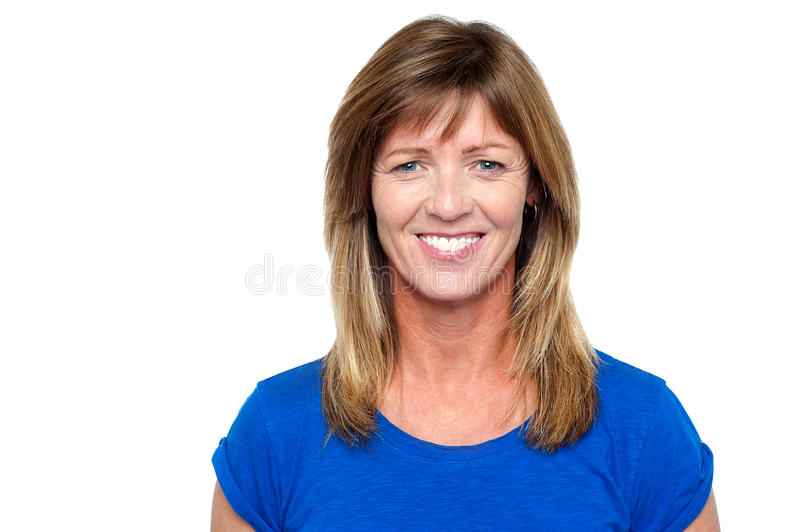 Smiling Middle Aged Blonde Woman Stock Image