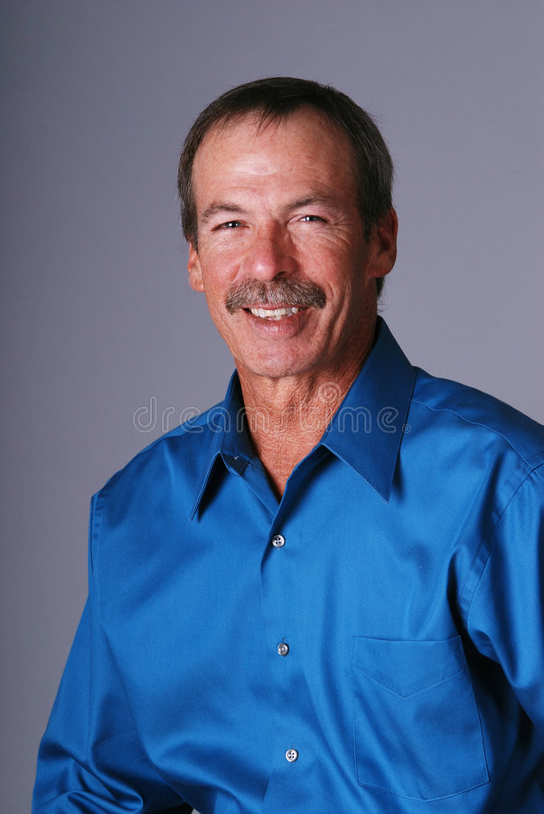 Smiling Middle Aged Man. Stock Photos