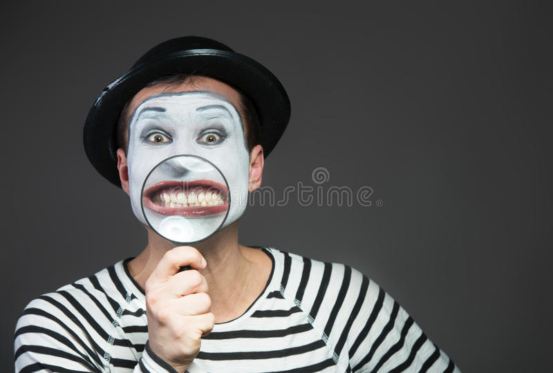 Smiling mime royalty free stock images