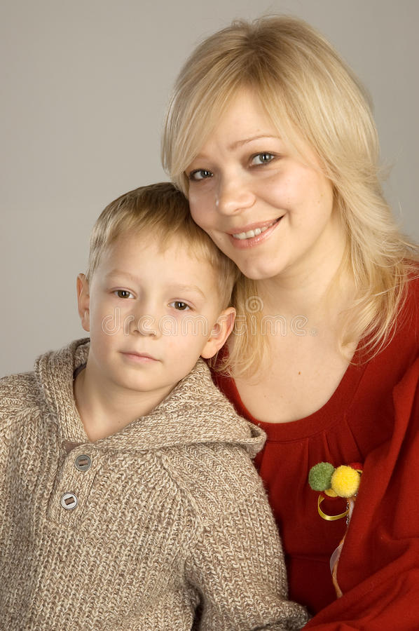 Free Smiling Mother And Son Stock Images - 13070224