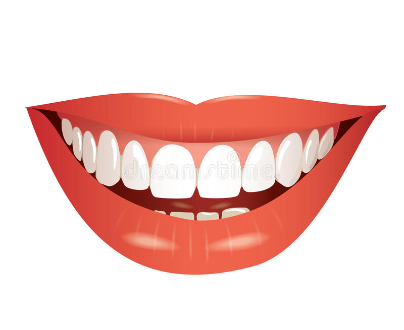 Smiling mouth isolated illustration royalty free illustration