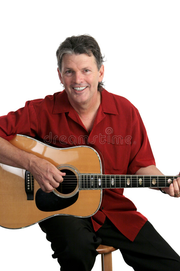 Smiling Musician stock image