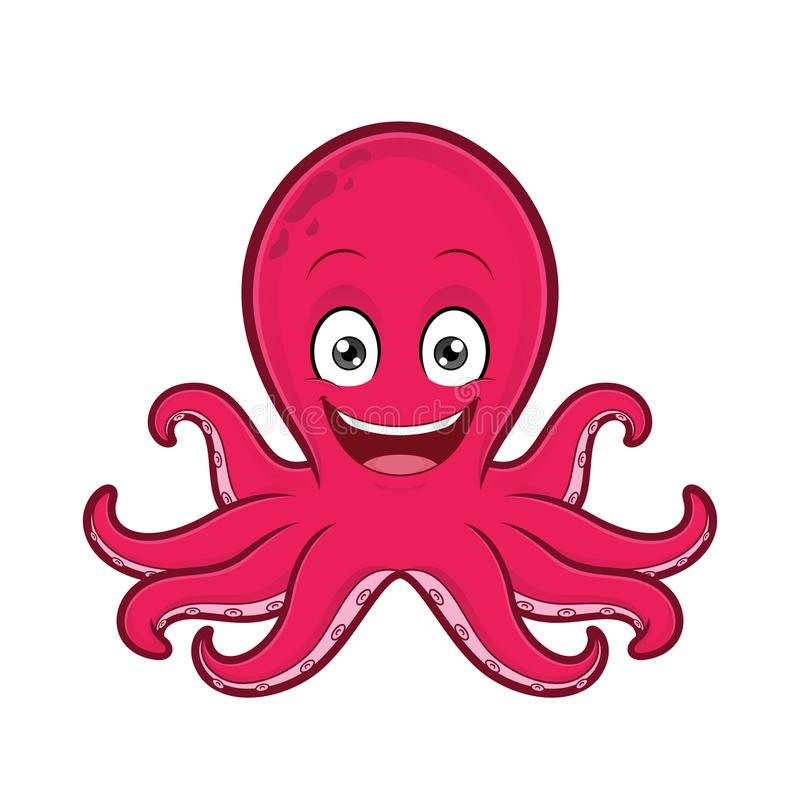 Free Smiling Octopus Royalty Free Stock Photography - 100215137
