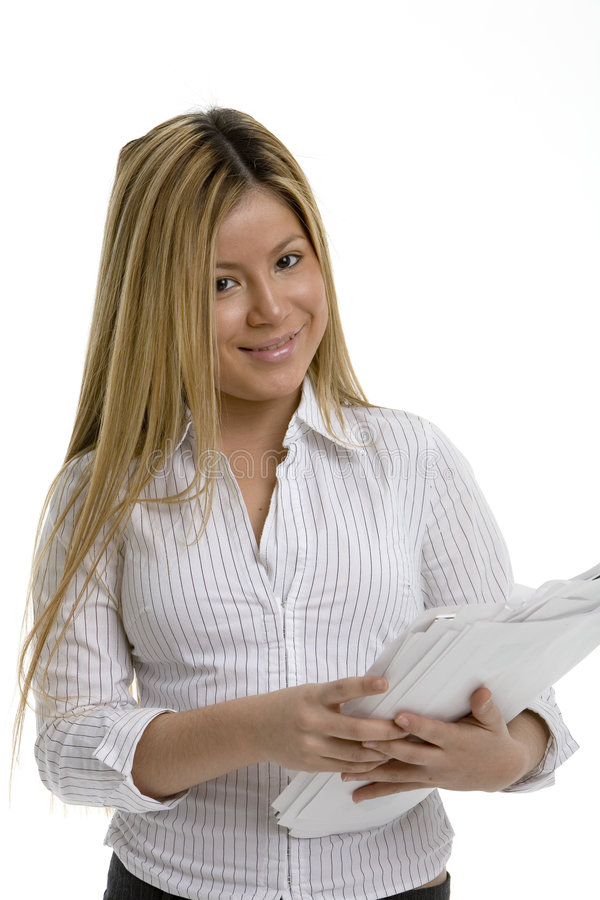 Download Smiling office worker stock photo. Image of race, career - 519118
