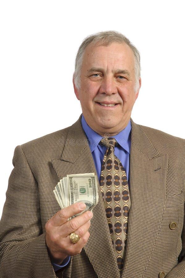 Smiling older businessman stock image