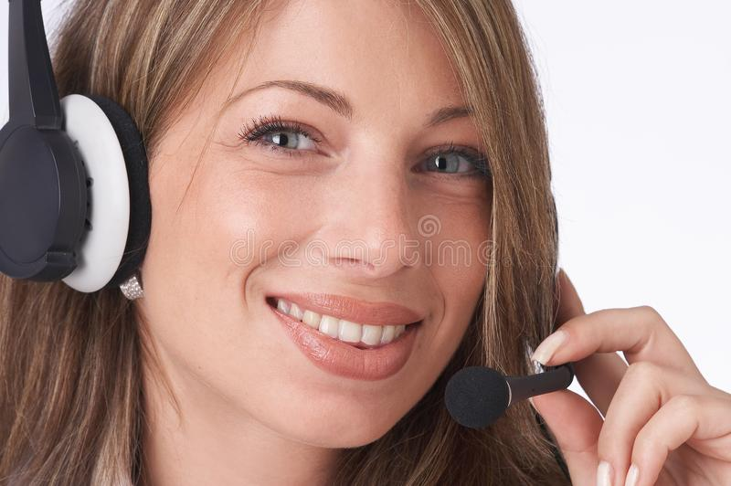 Download Smiling operator stock image. Image of call, discussion - 1829185
