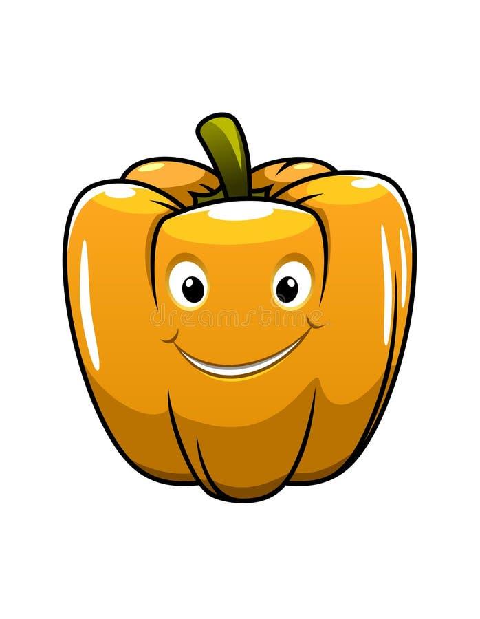 Free Smiling Orange Cartoon Pepper Royalty Free Stock Photos - 37760278