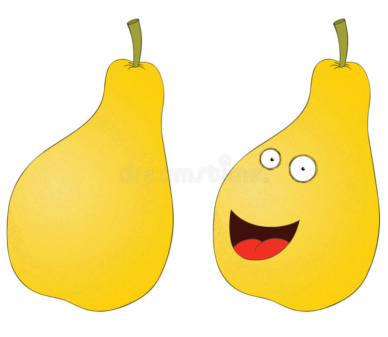 Download Smiling pear stock vector. Illustration of plant, isolated - 27362418