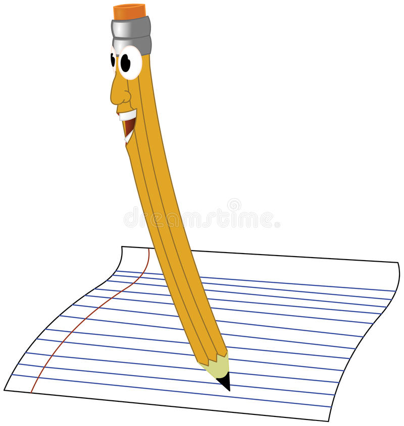 Smiling Pencil royalty free stock photography