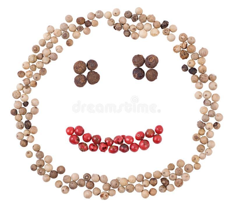 Smiling pepper face stock photos