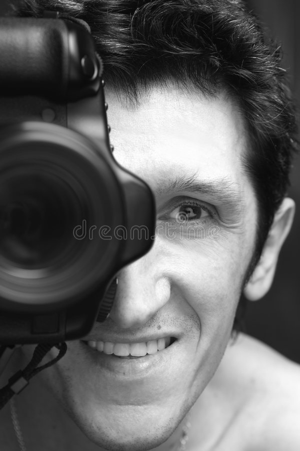 Download Smiling Photographer Royalty Free Stock Photography - Image: 4212617