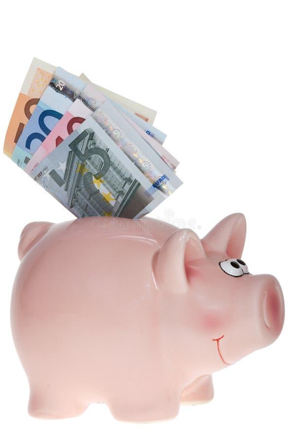 Download Smiling Pink piggy bank stock image. Image of front, deposit - 26374577