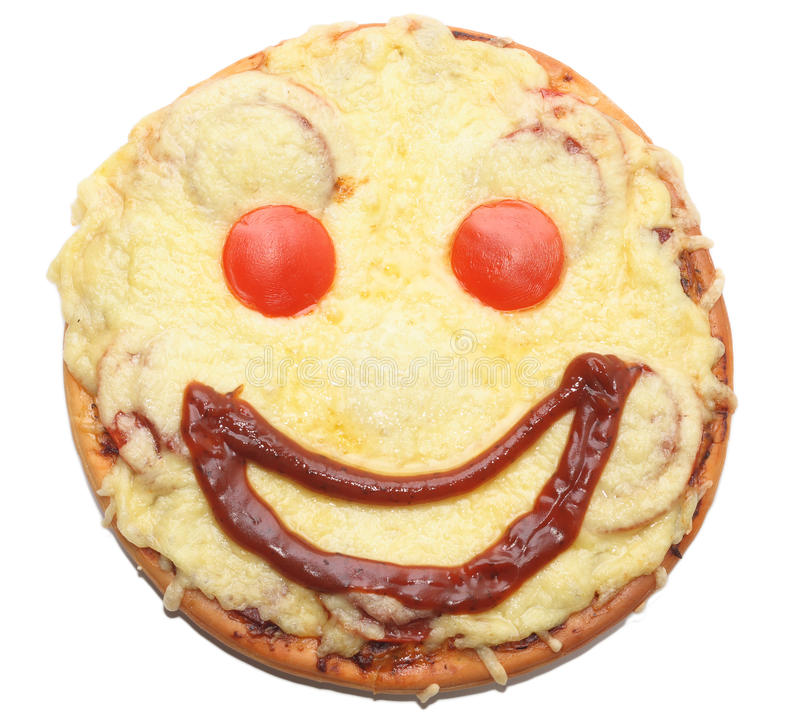 Smiling pizza