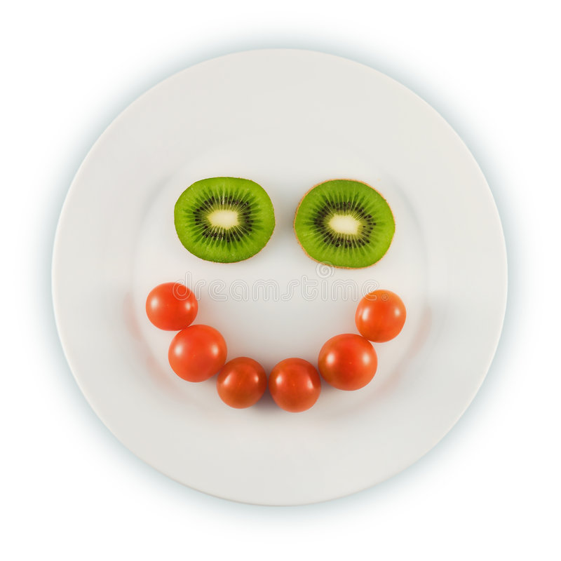 Smiling plate royalty free stock photo