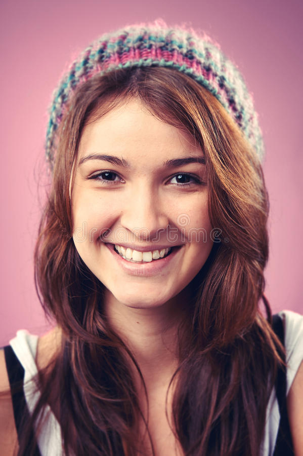 Smiling portrait woman royalty free stock photography