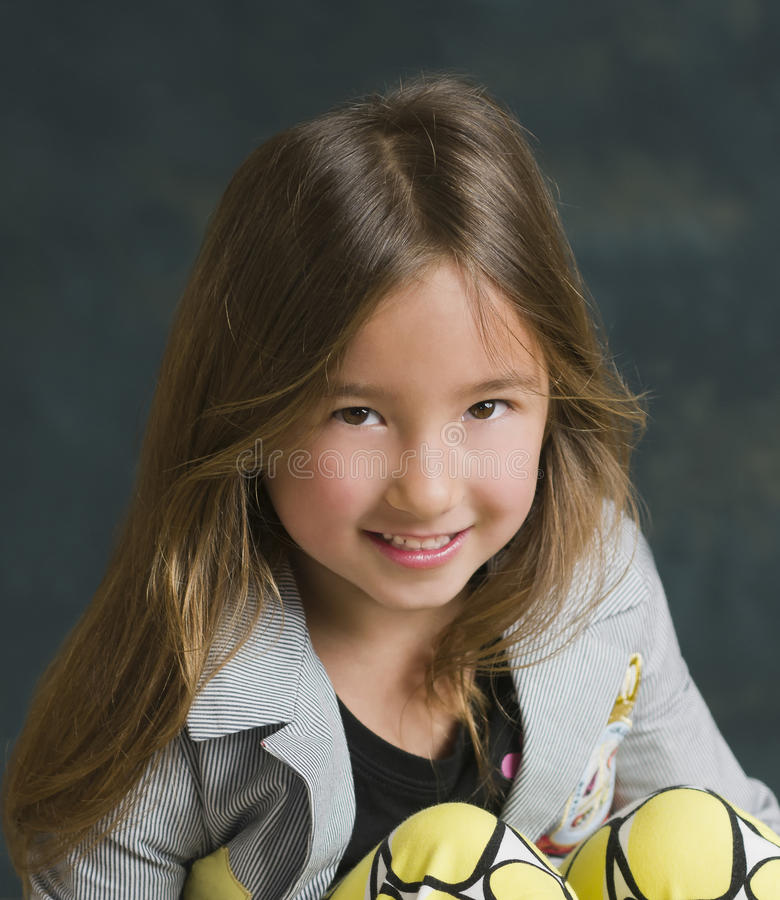 Download Smiling Pretty Little Girl stock photo. Image of smiling - 24082502